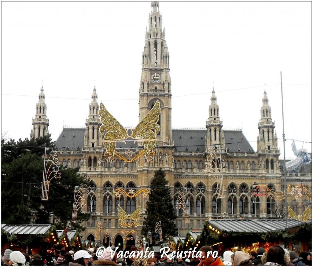 Targul de Craciun de la primarie din Viena1