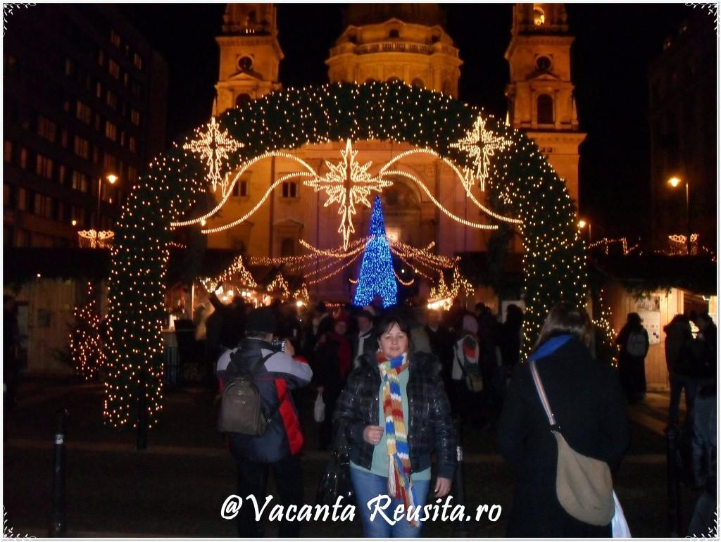 Targul de Craciun din Budapesta -Biserica Sfantul Stefan1