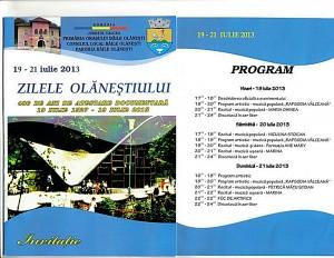 Invitatie Zilele Olanestiului